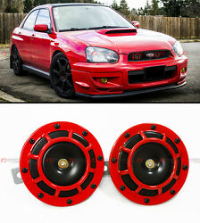 FOR SUBARU IMPREZA WRX STi GC8 GF GE RED 12V GRILL MOUNT COMPACT SUPER LOUD HORN