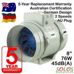 """HYDROPONIC INLINE EXHAUST FAN 8""""/200mm FOR CARBON FILTER VENTILATION ALLVENT"""