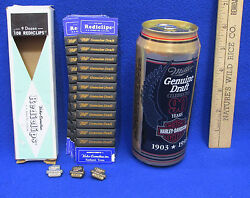 Miller Genuinetie Tac Hat Pins Harley Davidson 90 Yr Beer Can And Rediclips Lot 5