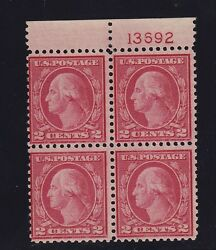 546 F-vf Light Hinged Plate Block Of 4 Aps Cert Nice Color Cv 800 See Pic