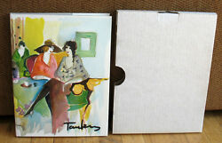 Signed Numbered Itzchak Tarkay Works On Paper 4 Lithographs Limited Slipcase Hc