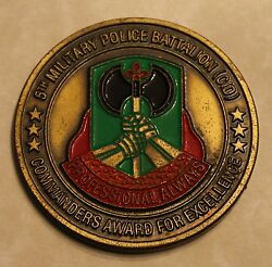 5th Military Police Battalion Cid Commander Army Challenge Coin