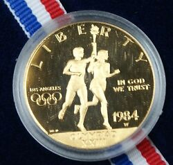 1984 W 10 Gold Eagle Proof Olympic Commemorative Coin Ogp