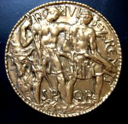 Society Of Medalists Issue No. 61 1960 By Leo Lentelli 73 Mm Bronze Medal N117