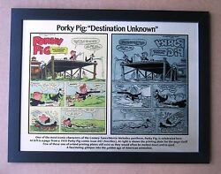 Porky Pig 1955 Destination Unknown Printing Plate And Comic Page Printed To Plate