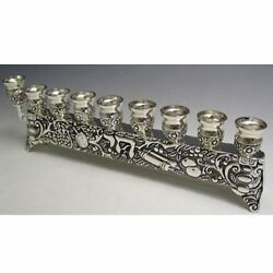 Chai Hanukah Menorah Candles Oil Silver Plated Holiday Candle Holder