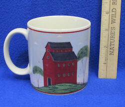 1998 Coffee Mug Cup Design By Warren Kimble Barns Red Painting Farm Shed