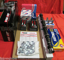Ford 351c 4-bbl Master Engine Kit Flat Top Pistons+rings+cam+lifters+timing