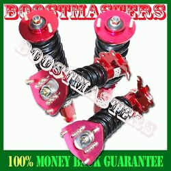 For 89-94 240sx S13 Silvia Adjustable Damping Coilover Suspension Kit Red