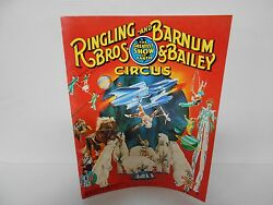 Vintage 1981 Ringling Bros. And Barnum And Bailey Circus Magazine/ Pull Out Poster