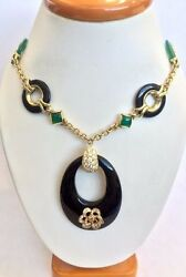 14k And 18k Yellow Gold And Diamond Necklace Custom Designed