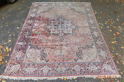 Rare Old Room Size Silk Oriental Rug Carpet 9and039 5 X 12and039