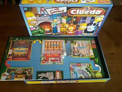the simpsons cluedo board game complete