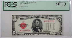 1928 $5 Legal Tender Star Note Fr. 1525 PCGS Very Choice New 64 PPQ *Scarce*