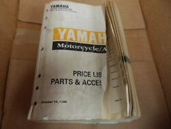 Yamaha Motorcycle/atv Factory 96 Parts And Acces Price List Manual Lit-10021-03-05