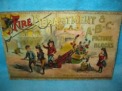 1893 mcloughlin fire department abc blocks