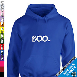 Adults Cute Halloween Hoodie - Little Ghost Boo Funny Party Costume Spooky Funny