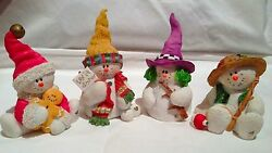 sarah attic snowonders lot of 4 snowman