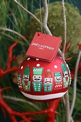 CRATE amp; BARREL NUTCRACKER ORNAMENT RED NWT MARCH RIGHT UP TO WHIMSY $13.45