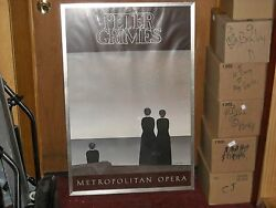 Peter Grimes Met Opera Signed By Will Barnet And Peter Grimes W/ A Sharpie