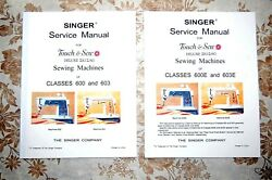 Library Of Service Manuals For Singer Sewing Machines Classes 600 603, 600e 603e