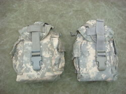Molle Ii Canteen / Utility Pouch Acu Digital Camo Pattern - Lot Of Two 2