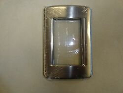 CARVER VIMAR PLACCA SWITCH COVER PLATE BRUSHED NICKEL 4 34