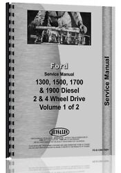 Ford 1300 1500 1700 1900 Tractor Service Manual Fo-s-1300,1500+