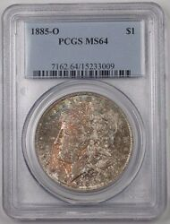 1885-o Us Morgan Silver Dollar Coin 1 Pcgs Ms-64 Nicely Toned Br5 L