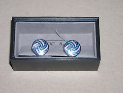 95 New Jos A Bank Menand039s Purple And Blue Swirtl Cufflinks In Silver