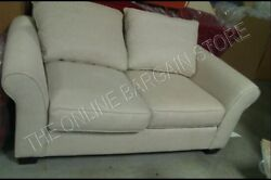 Pottery Barn Comfort Upholstered Sofa Couch Loveseat Flax Textured Basketweave