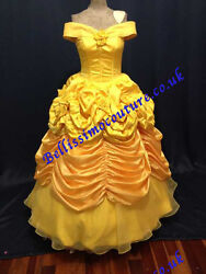 Princess Dress Beauty And Beast Belle Costume Adult Size 6810121416