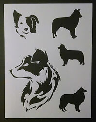 Border Collies Collie Dog Dogs 8.5quot; x 11quot; Custom Stencil FAST FREE SHIPPING