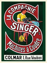 Sewing Lady Sew Singer Machine Seamstress French 16x20 Vintage Poster Free Sh