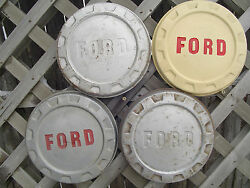 1958 58 Ford 150 Pickup Truck Dog Dish Center Caps Hubcaps Wheel Covers Fomoco