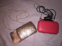 Evening clutches with removable strap $12.00
