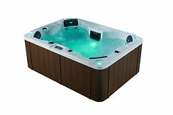 4 person Acrylic Hot Tub Plug & Play Led lights Cover and Aromatherapy