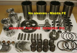 Mazda Fe Engine Kit Gas Hyster Forklift 2.0 1998cc Pistons Gaskets Valves Deluxe