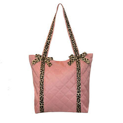 Dance Bag Tote Girls Pink Leopard Trim New $8.99