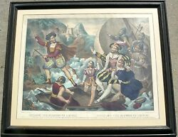 Military Mercenary French Print 1800and039s Guillame Tell William Tell Rare Print