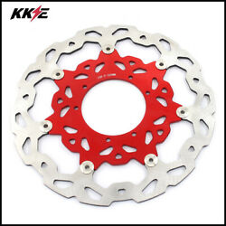 Kke 320mm Oversize Disc Rotor Fit For Honda Crf250r Crf450r Crf450x Crf250x Red