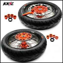 Kke 3.5/4.25 Supermoto Wheels Cst Tire For Sx Excf Xcw Xcf Sxf 125-530 2003-2021
