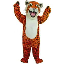 Professional Quality Orange Tiger Mascot Costume Adult Size