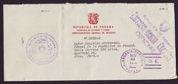 Panama Official Mail To Peru 1940