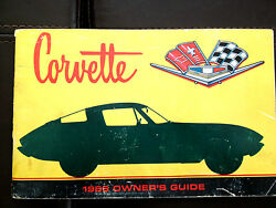 1966 Corvette Factory Gm Owners Manual Second Edition Part 3879852 W/ 1/2 Card