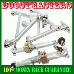 For 1995-1998 S14 Fandr Adj. Lower Control Arms Silver Nissan 240sx