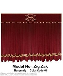 Saaria Zigzak Stylish Velvet Curtains Theater Church Hall Stage Show 16and039w X 10and039h