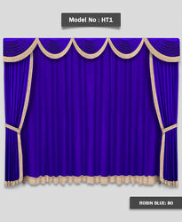 Saaria Movie Home Theater Decor Event Hall Stage Velvet Curtain 12'W x 8'H HT-1