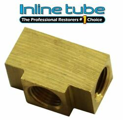 3/16 Inverted Flare Brass Tee 3/8-24 And 1/8 Npt Brake Line Light Switch Te03 1pc