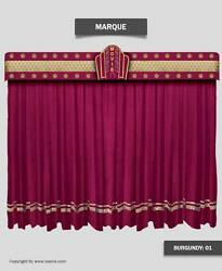 Saaria Movie Stage Home Theater & Hall Curtain 15'Wx9'H Custom Colors Available